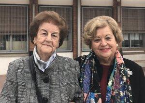 Luz Divina Martín i a Conchita Romera, exprofessores de l'Escola Sant Martí
