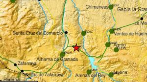 Epicentro del terremoto de Granada