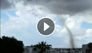 Foto del tornado de Lanzarote