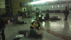 Imagen del interior del Manchester Arena tras el atentado terrorista