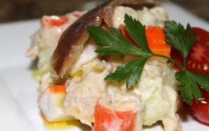 Amanida de patata amb tonyina i cranc LCDS
