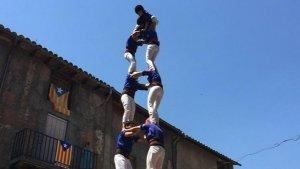 El 2 de 7 coronat pels Castellers de Berga a Bagà.
