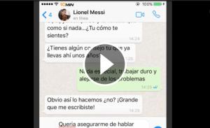 Paròdia de missatges entre Messi i Cristiano Ronaldo.