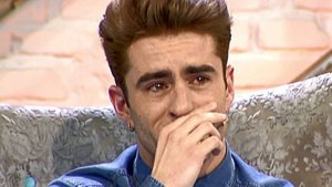Pelayo Díaz llorando