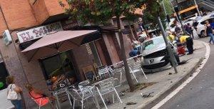 Accident a l'avinguda de Tarradellas