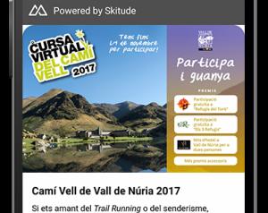 Aplicació per participar en la cursa virtual