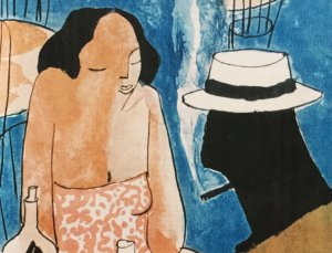 Cartell del primer Festival de Blues de Cerdanyola, per Didier Lorenço