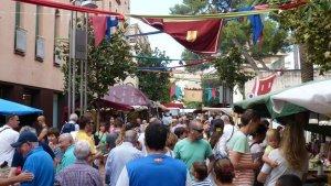 Imatge d'un dels carrers del XVIII Mercat Medieval de Salou.