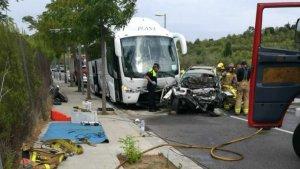 L'accident s'ha produït a dos quarts de cinc de la tarda.