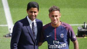 Neymar Jr amb el propietari del PSG,  Nasser Al-Khelaifi