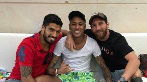 Neymar, Luis Suárez i Messi