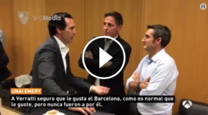 Unai Emery, Berizzo i Ernesto Valverde.
