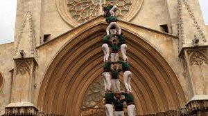 3 de 8 dels Castellers de Sant Cugat a Tarragona.