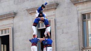 4 de 8 dels Castellers de la Vila de Gràcia.