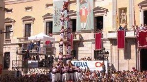 4 de 9 amb folre dels Xiquets de Tarragona.