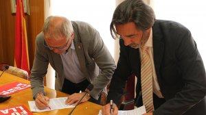 Alonso i Gomés han presentat les línies de treball del pacte de govern.