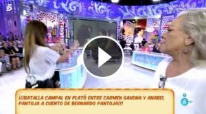 Baralla entre Anabel Pantoja i Carmen Gahona