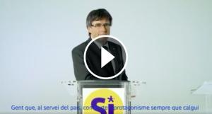 Carles Puigdemont, en el nou vídeo de campanya del PDeCAT