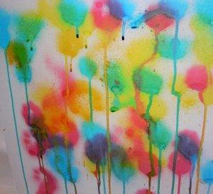 Dibuix amb colorant alimentaris