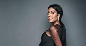 Georgina Rodríguez posando embarazada ante las cámaras de ¡Hola!