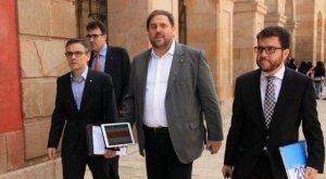 Imatge de Josep Maria Jové (a l'esquerra) amb Oriol Junqueras.