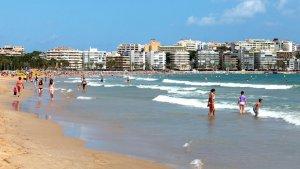 Imatge de la platja de Llevant de Salou