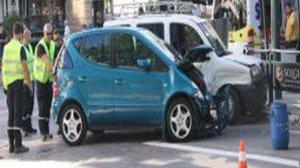 Imatge de l'accident produït a Alcoi esta vesprada, dimecres 13 de setembre