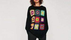 Jersey Oversize Crochet de Zara por 29,95 euros
