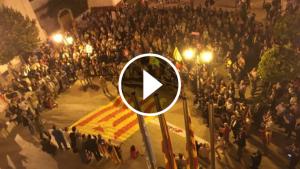 La concentració que s'ha fet a la plaça del Castell.