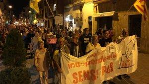 La marxa ha transcorregut pel centre de Torredembarra.