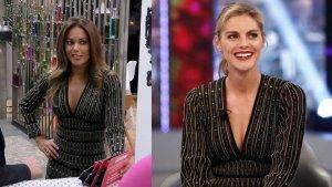 Lara Álvarez y Amaia Salamanca con el mismo vestido de Roberto Cavalli