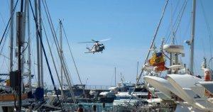 L'helicòpter de Salvament Marítim participarà en una de les exhibicions.