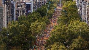 Més d'un milió de persones han omplert el passeig de Gràcia i el carrer d'Aragó a favor del referèndum.