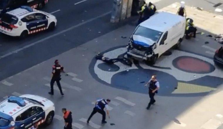 Imatge de l'atemptat a Barcelona.