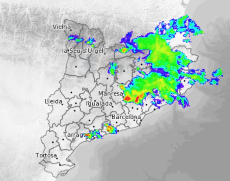 Les plujes han arribat al Camp de Tarragona