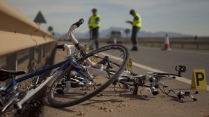 Accidente de bicicletas