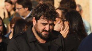 Antonio Orozco durante el funeral de Susana Prat en Sitges