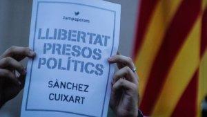 Concentració a Tarragona per demanar la llibertad de Sànchez i Cuixart