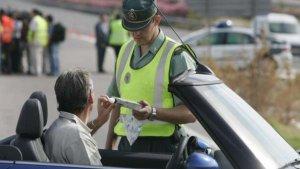 Control de alcoholemia de la Guardia Civil de Tráfico