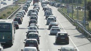 Cua de trànsit a l'A-2 direcció Lleida