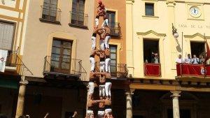 El 3 de 8 dels Xiquets de Reus a Alcover.