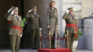 El jefe del Ejército de Tierra, a la derecha, en un acto militar