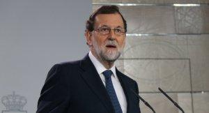 El president espanyol, Mariano Rajoy, en una compareixença a La Moncloa aquest dimecres.