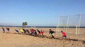 Els dos equips aprofiten el bon temps per preparar-se a Torredembarra de cara a la temporada.