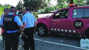Els Mossos d'Esquadra i els Bombers de la Generalitat han participat en el dispositiu de recerca