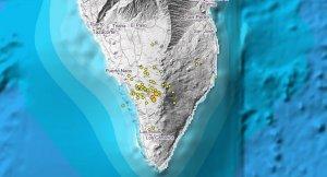 En la isla de la Palma se produjeron una serie de hasta 71 pequeños terremotos en tres días