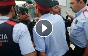 Enfrentament dels Mossos amb la Guàrdia Civil l'1-O