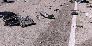 Imagen del lugar del accidente en el que han perdido la vida la mujer y su hija