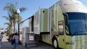 Imatge de l'autobús d'ASGECO en el Road Show del 2009