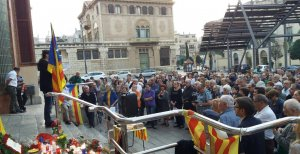 Imatge de l'homenatge a Lluís Companys d'aquest matí a Reus